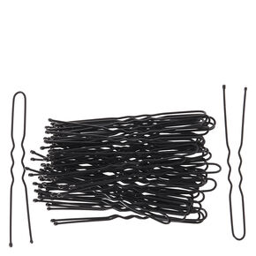Hair Grips - 50 Pack, Black,