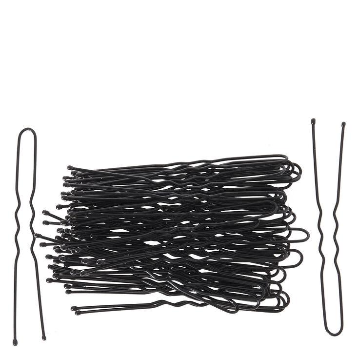 Hair Grips - 50 Pack, Black,