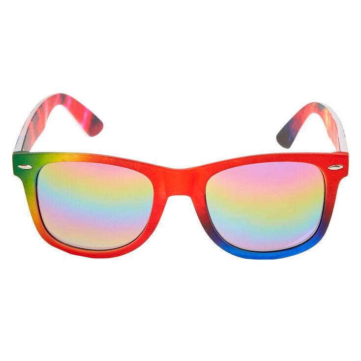 Rainbow Tie-Dye Retro Sunglasses,