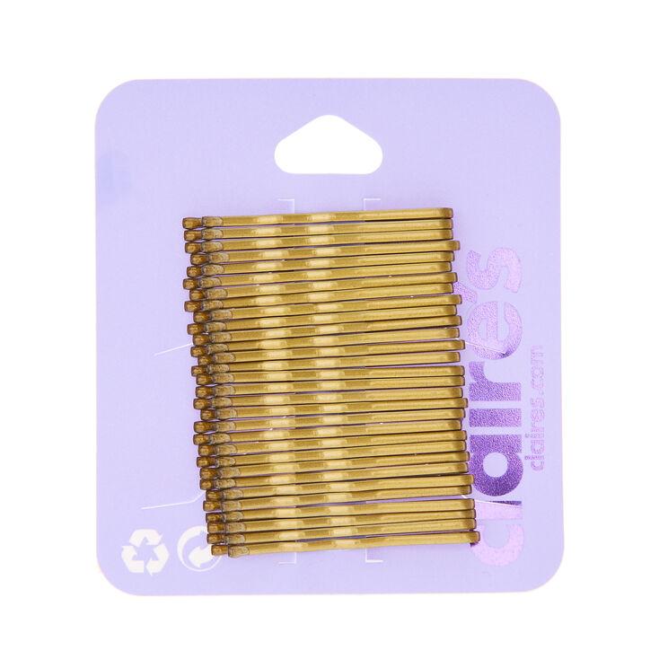 Mini Blonde Bobby Pins - 30 Pack,