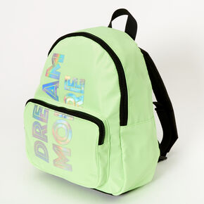 Dream More Neon Small Backpack - Green,