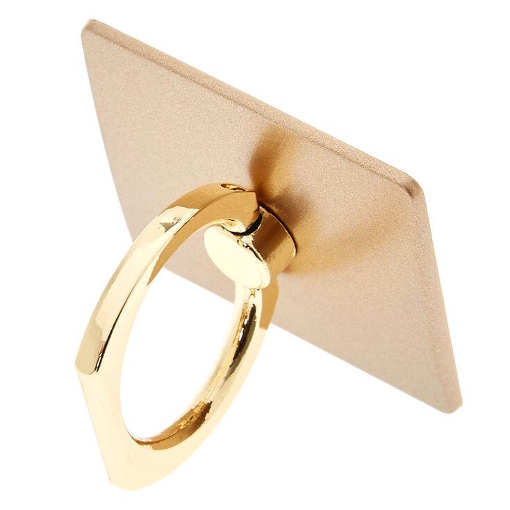 Support avec anneau et plaque couleur doré,