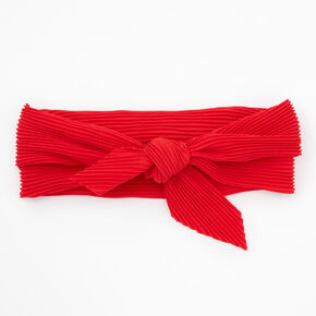 Bandeau bandana plissé - Rouge,
