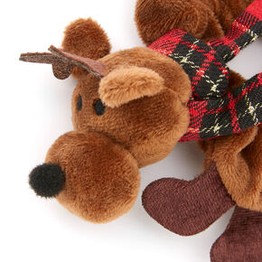 Small Reindeer Hair Scrunchie - Brown,