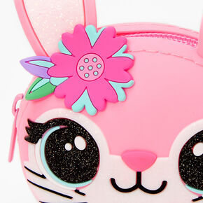 Bunny Face Jelly Coin Purse - Pink,