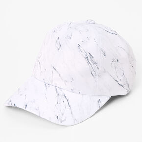 Marble Baseball Cap - White,