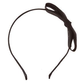 Straight Black Bow Headband,