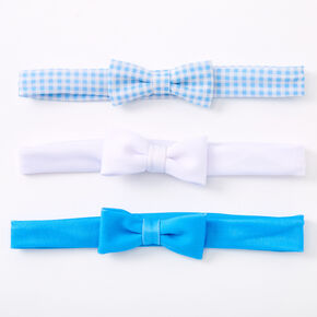 Claire's Club Bow Headwraps - Blue, 3 Pack,
