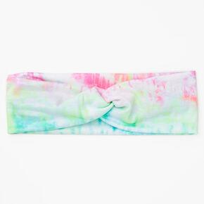 Pastel Tie Dye Twisted Headwrap,