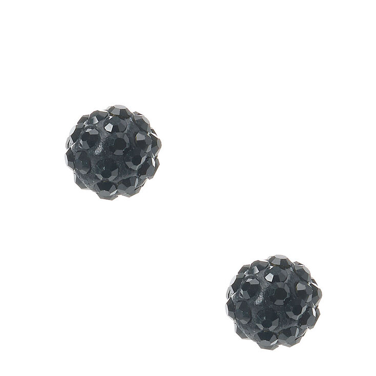 3e01c9171 Black Fireball Stud Earrings | Claire's