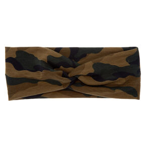Camo Print Twisted Headwrap,