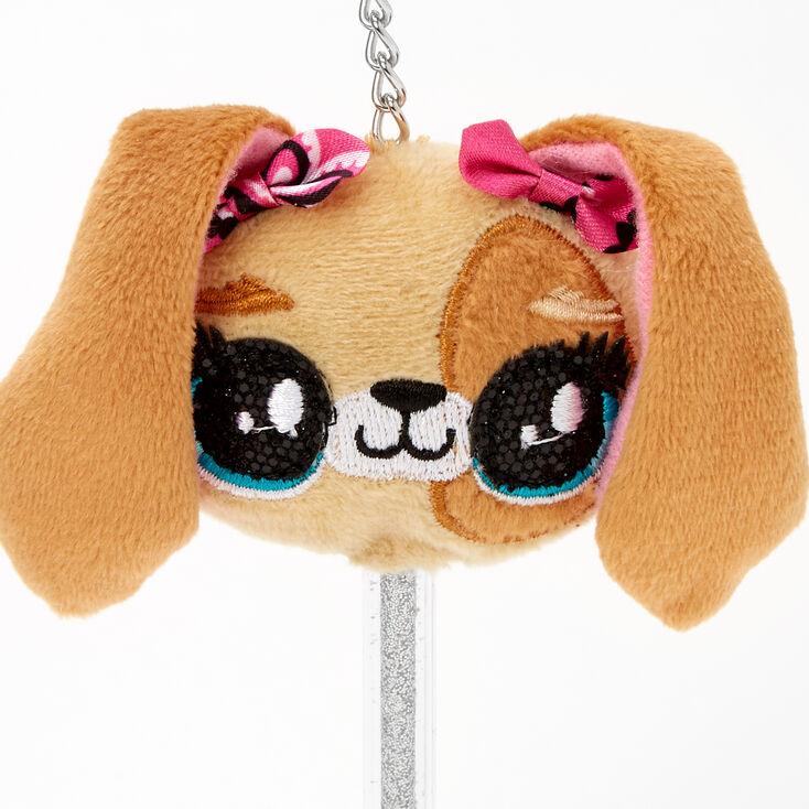 Puppy Mini Keychain Pen - Brown,