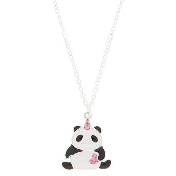Claire's - unicorn panda pendant necklace - 1