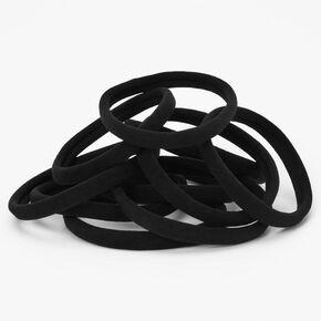 Élastiques roulés - Noir, lot de 10,