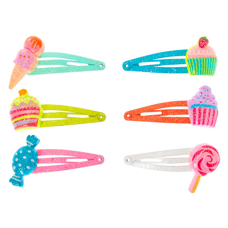Claire's Club Sweet Treats Snap Hair Clips - 6 Pack,