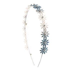 Glitter Ombre Daisy Headband - Blue,