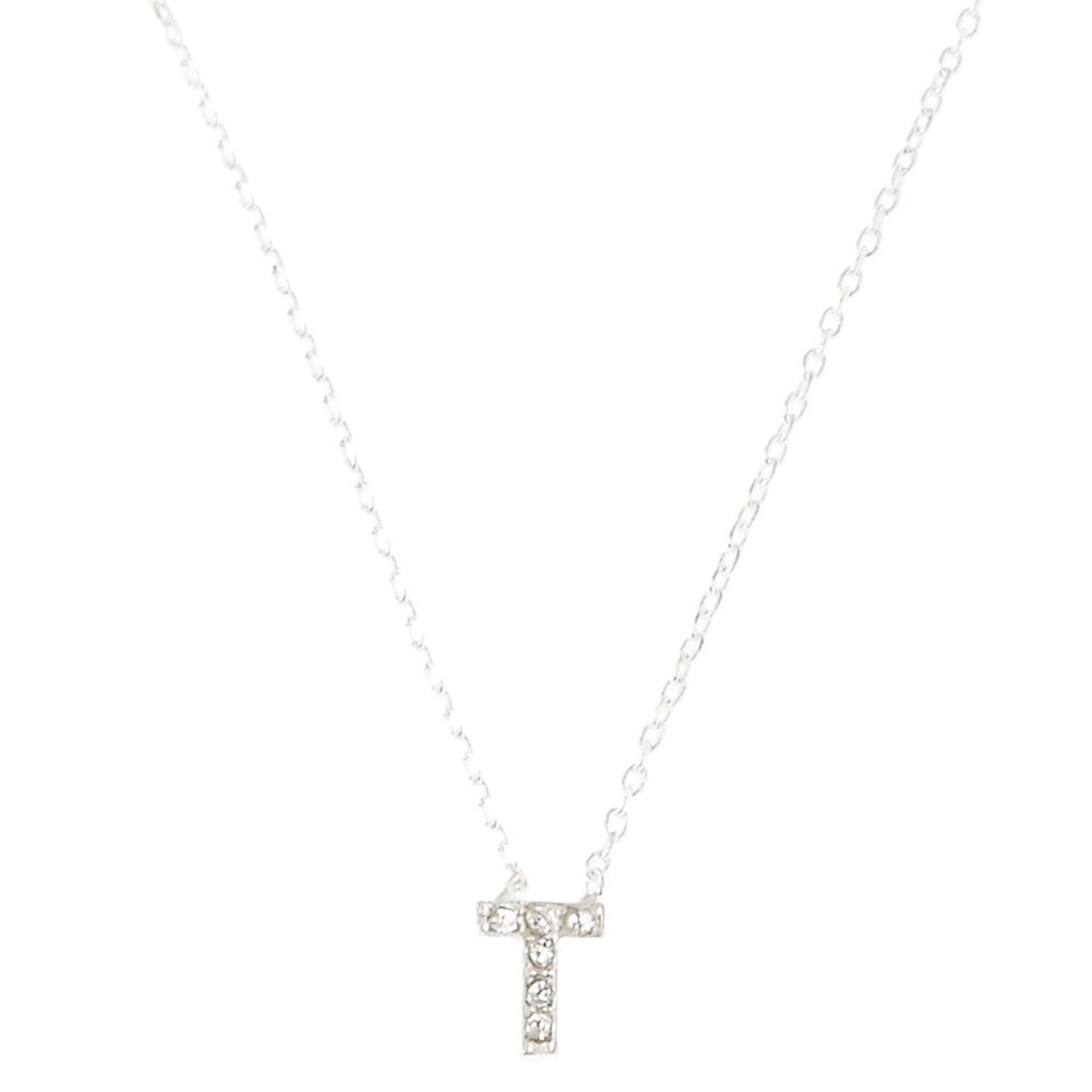 T pendant necklace claires t pendant necklace aloadofball Images