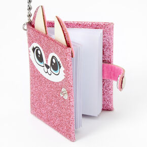 Porte-clés mini journal intime renarde rose - Rose,