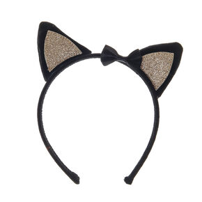 Claire's Club Cat Ears Headband - Black,