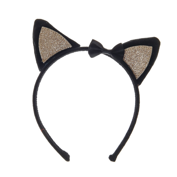Claire's Club Cat Ears Headband - Black,