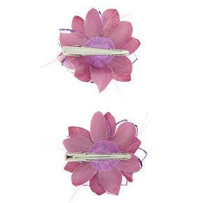 Glitter Lilly Flower Hair Clips - 2 Pack,