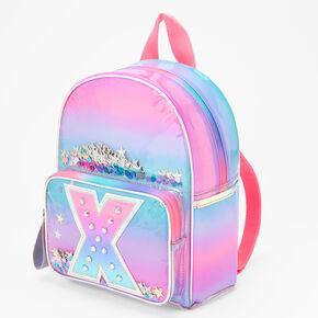 Ombre Shaker Initial Mini Backpack - X,