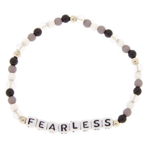 Fearless Beaded Stretch Bracelet - Black,