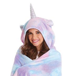 Unicorn Hooded Blanket - Pink,