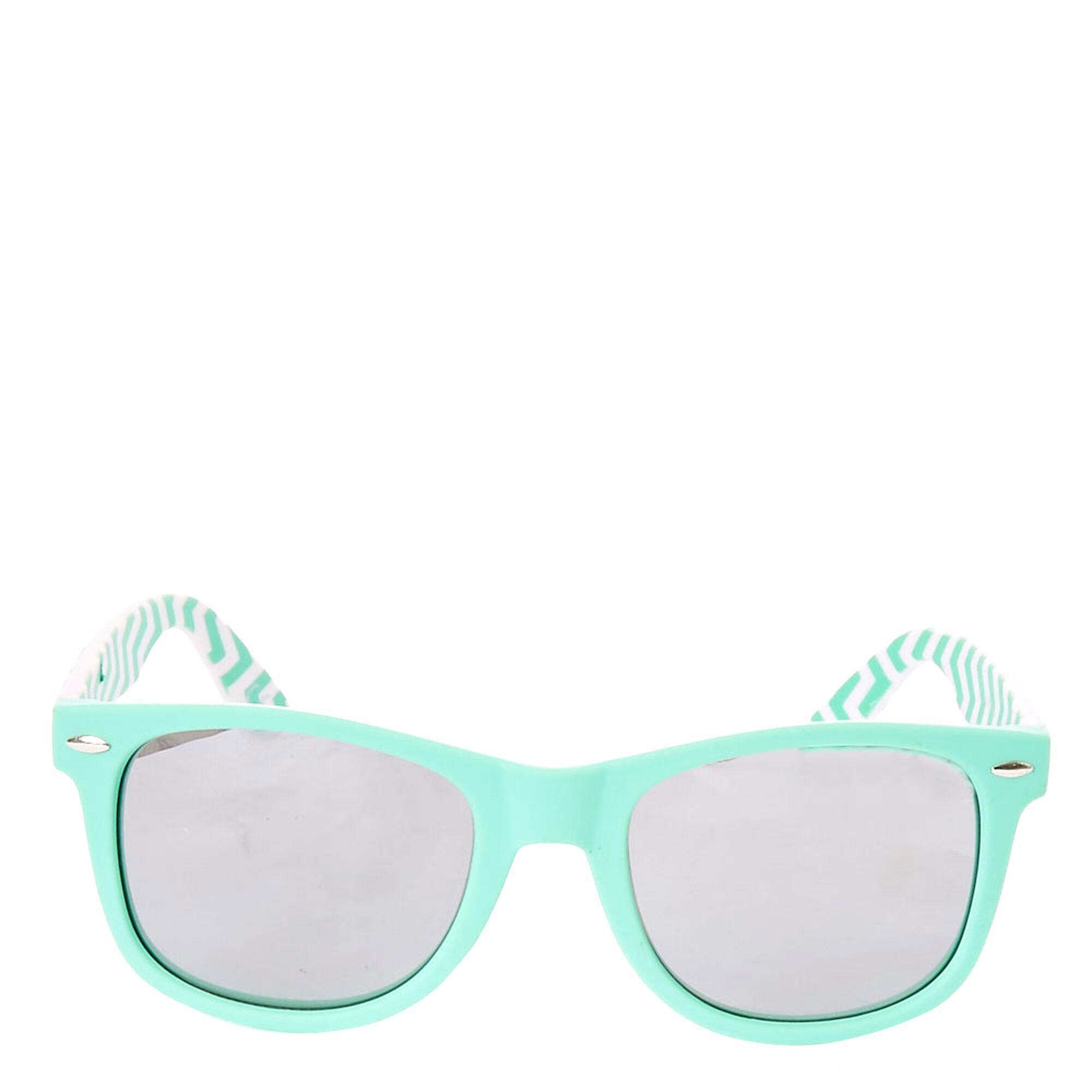 8d38b6b4d18a ... Chevron Retro Sunglasses - Mint