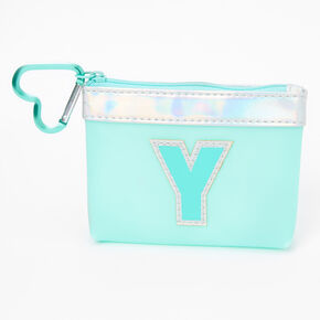 Blue Initial Coin Purse - Y,