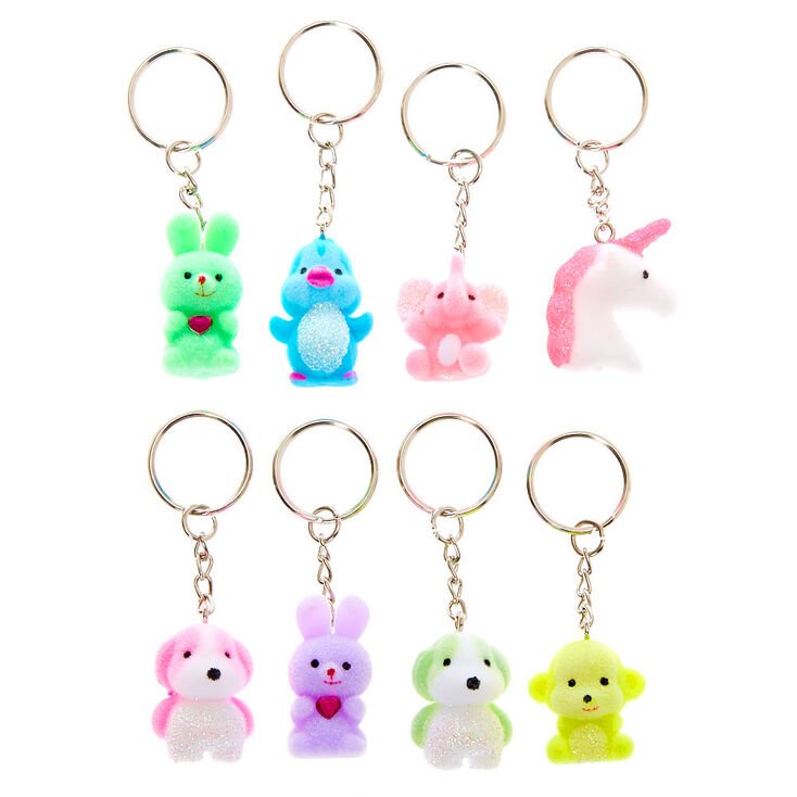 Glitter Animals Best Friends Keychains - 8 Pack,