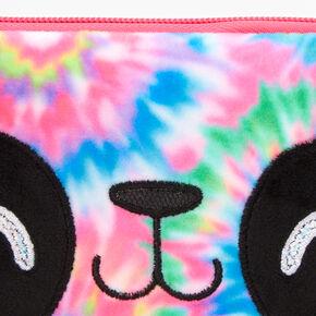 Tie-Dye Panda Plush Pouch - Pink,