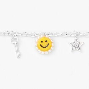 Silver Retro Charm Bracelet,