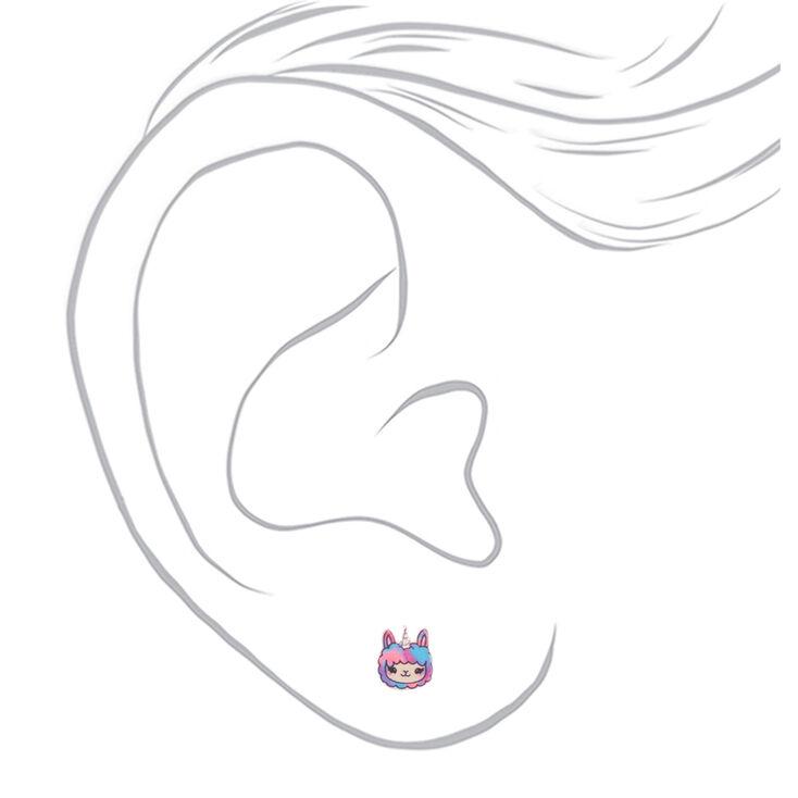 Lala the Llamacorn Stud Earrings,