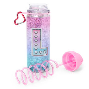 Initial Water Bottle - Pink, L,