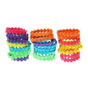 Claire's Club Rainbow Wave Hair Ties - 24 Pack,