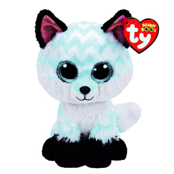 Claire's - ty beanie boo medium piper the chevron fox soft toy - 1