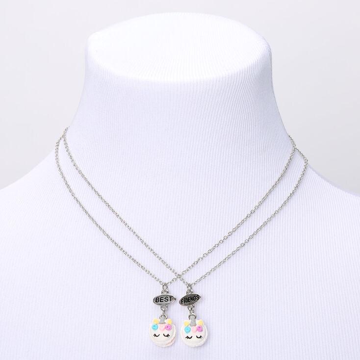 Best Friends Unicorn Macaron Pendant Necklaces - 2 Pack,
