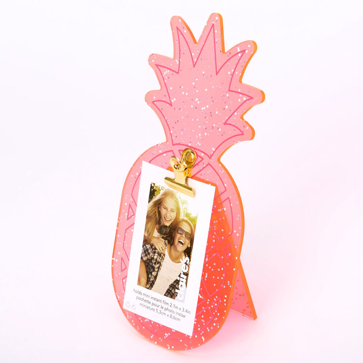 Neon Pineapple Instax Photo Holder - Pink,