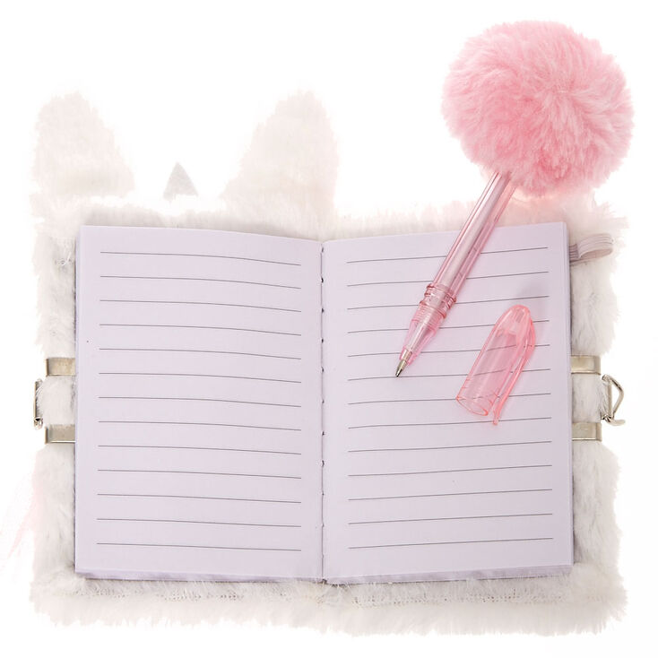 Claire's Club Claire the Bunny Lock Soft Notebook,
