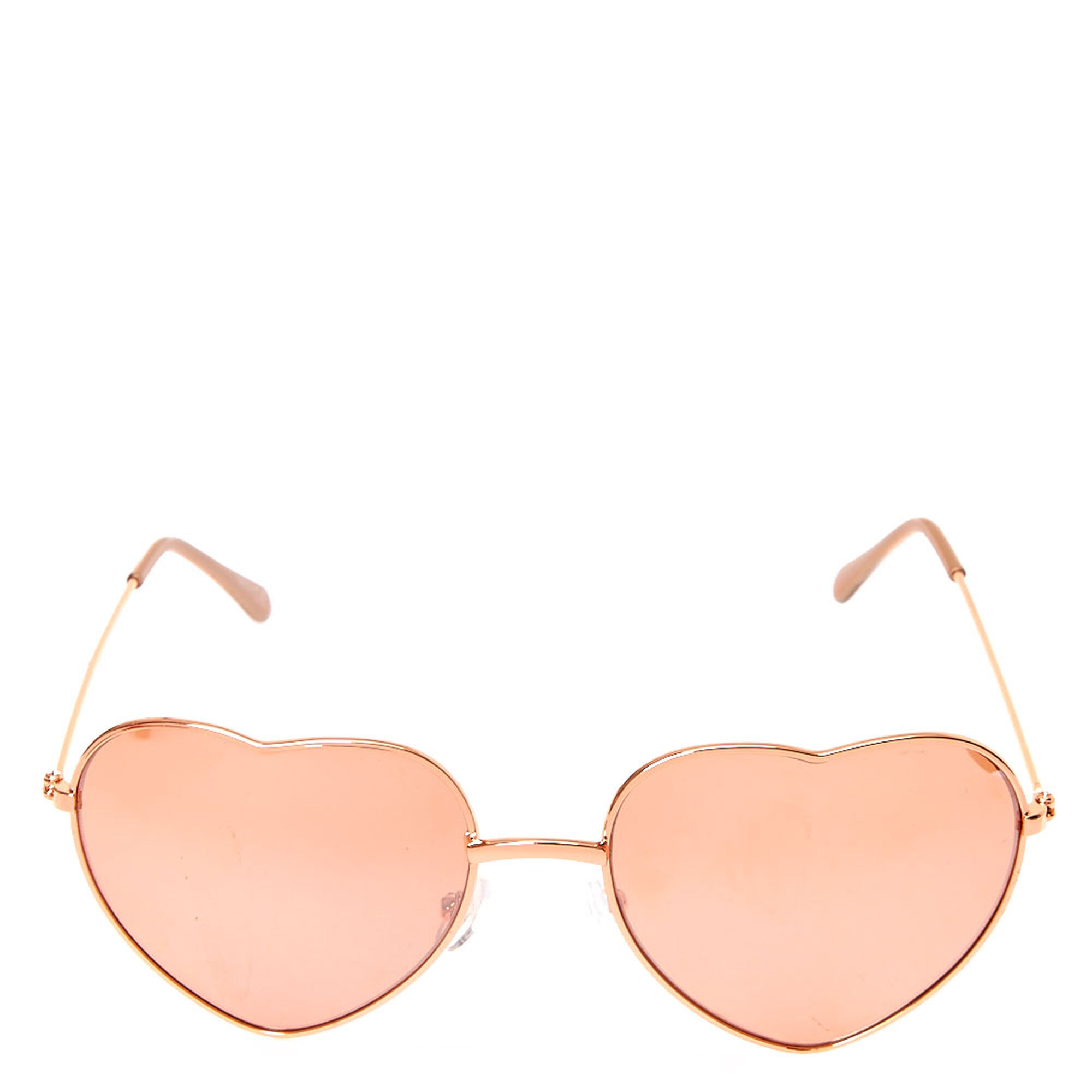 b75b9115704 ... Rose Gold Heart Sunglasses