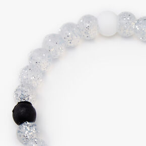 Clear Glitter Fortune Bracelet,