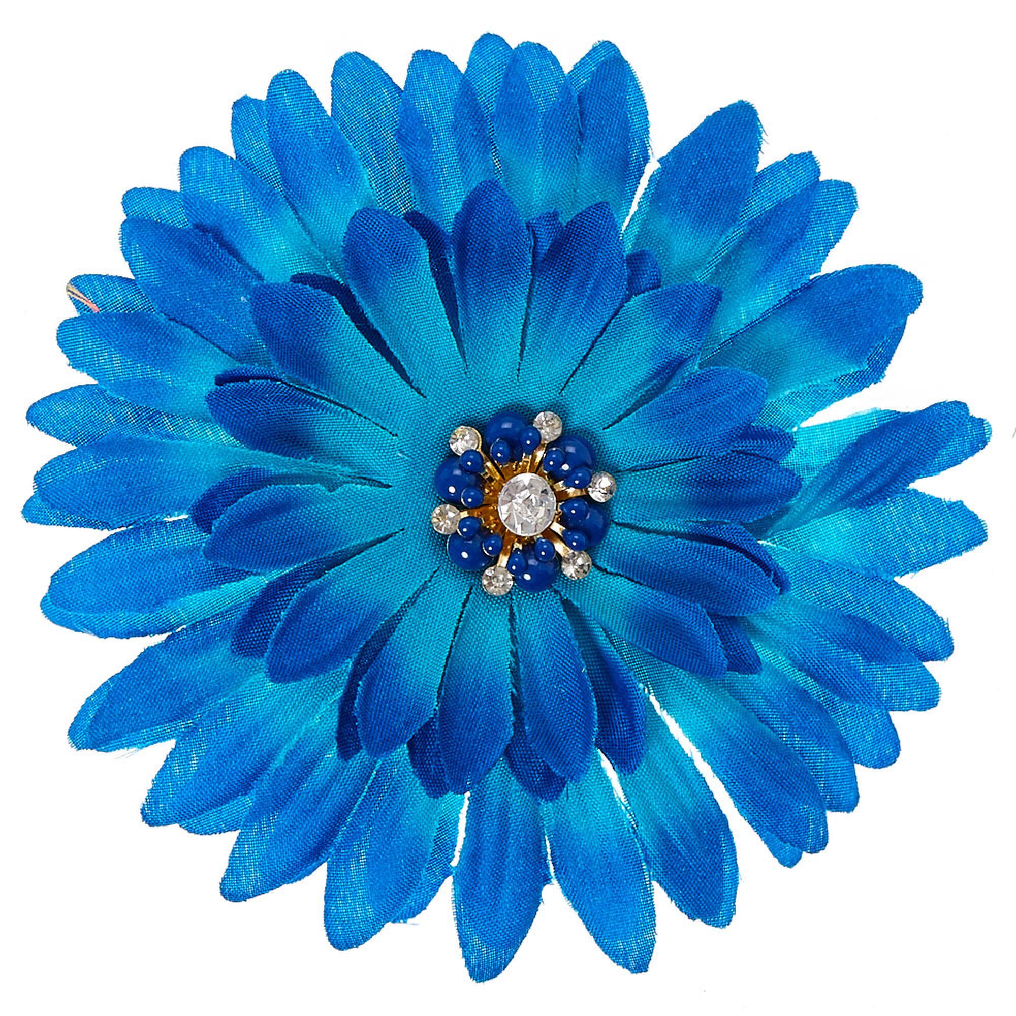 Navy blue ombre tropical flower hair clip claires us navy blue ombre tropical flower hair clip izmirmasajfo