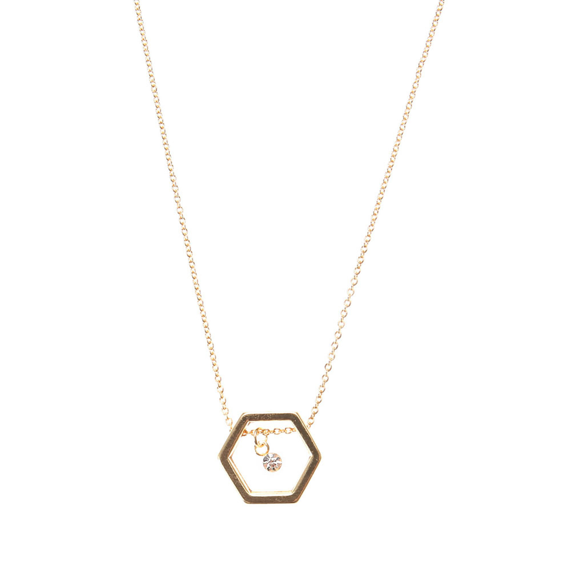 with graphic stone pattern pendant gold jennifer assorted pin necklace jewelry woods hexagonal