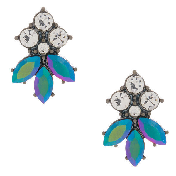 Claire's - hematite anodized glam stud earrings - 1