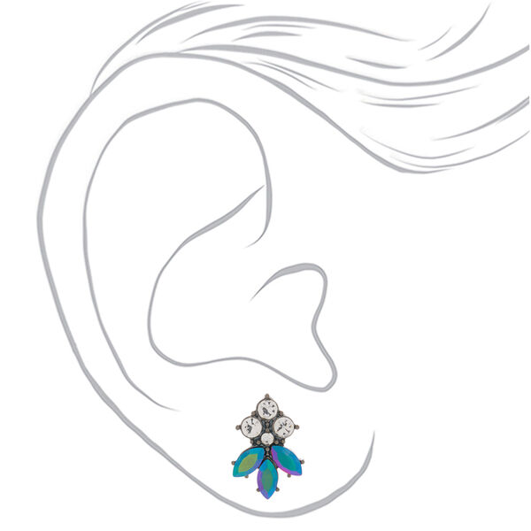 Claire's - hematite anodized glam stud earrings - 2