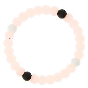 Glow In The Dark Love Fortune Stretch Bracelet - Pink,