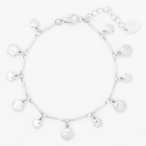 Silver Seashell Charm Bracelet,
