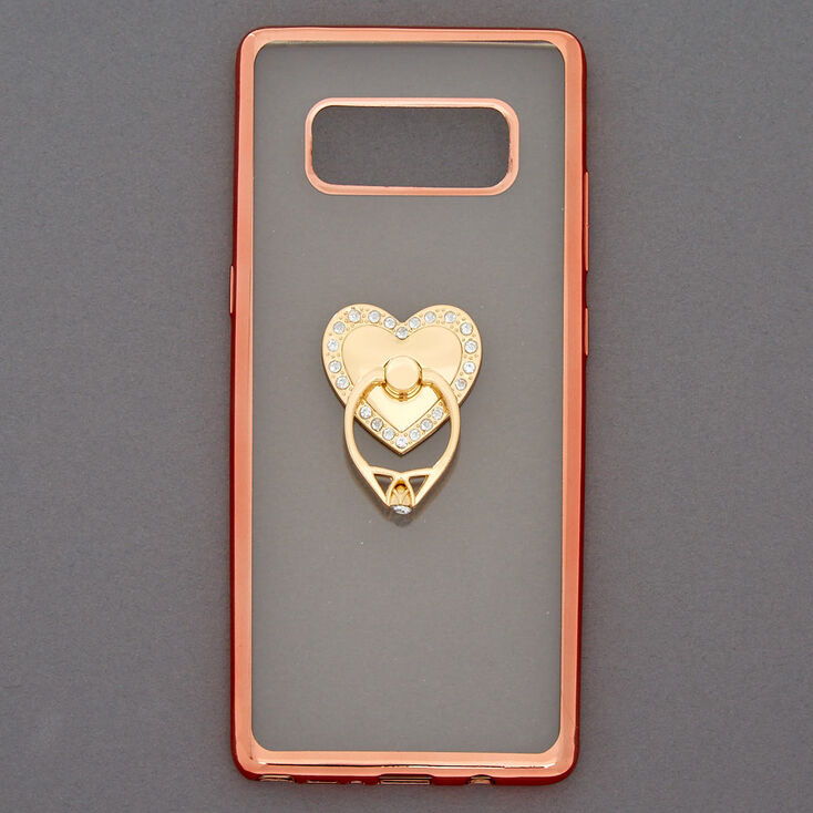 Heart Ring Holder Phone Case - Fits Samsung Galaxy Note 8,