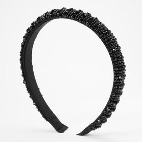 Samantha Beaded Headband - Black,